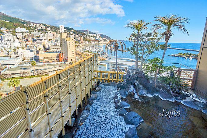 熱海温泉ホテルサンミ倶楽部自慢の眺望を、露天風呂からも一望!