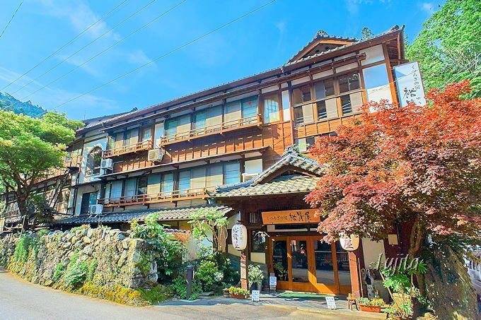 下部温泉裕貴屋は、老舗旅館らしい落ち着いた佇まい!