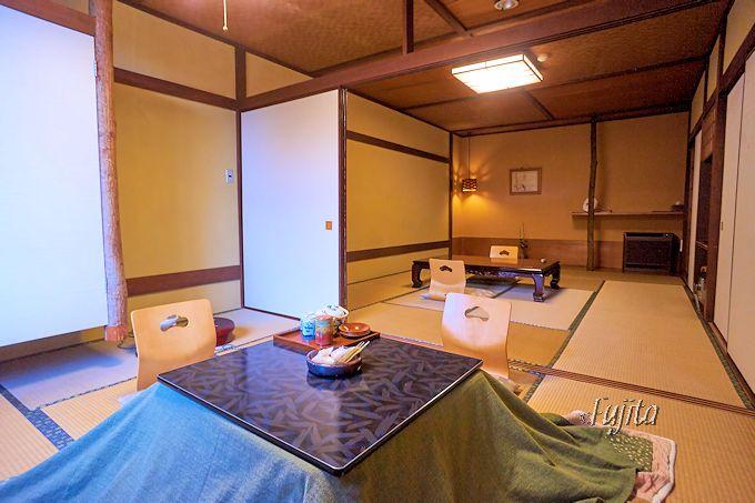 船原館の客室は、全部屋2間続きで広大!