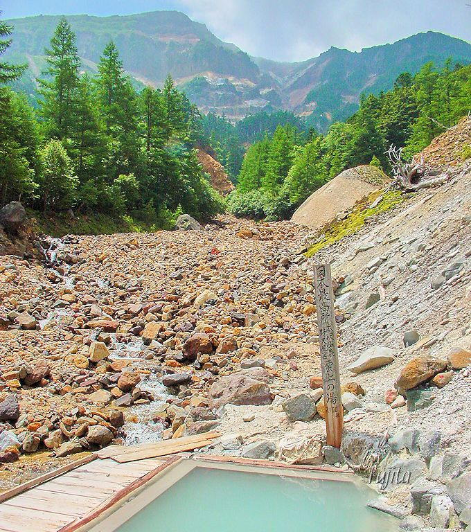 日本最高所の露天風呂「雲上の湯」