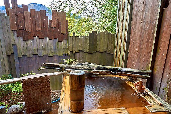 貸切露天風呂で温泉満喫!