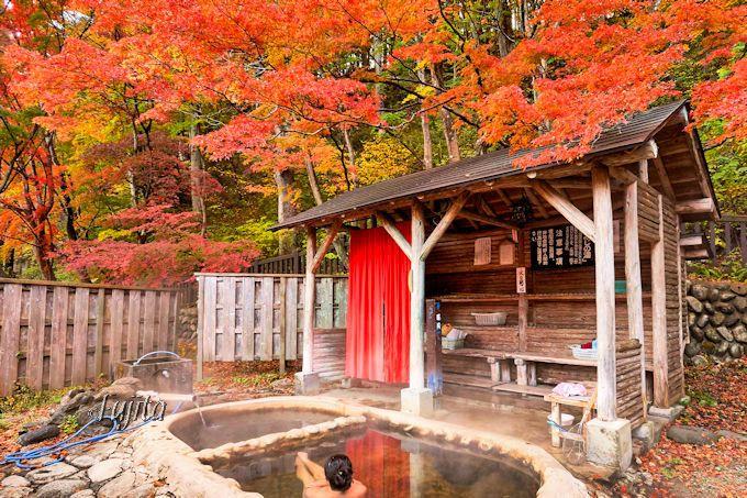 日本屈指の紅葉露天風呂が100円!塩原温泉「もみじの湯」で絶景の紅葉狩り