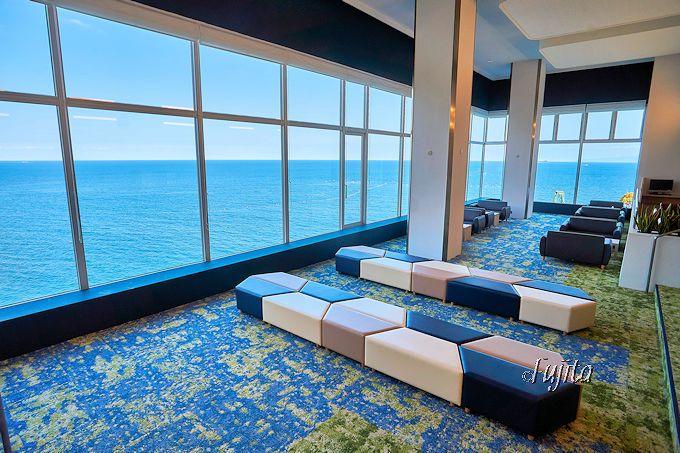 広大な太平洋を一望する!客室眺望とロビーの眺望