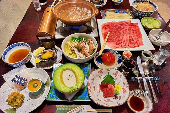 メロンの器にビシソワーズ!湧駒荘は料理も絶品