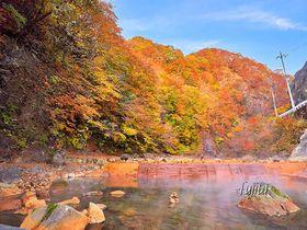川が無料の露天風呂!群馬・尻焼温泉「川の湯」で紅葉狩り