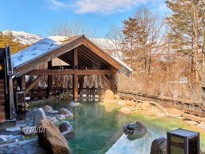 草津温泉「お宿 木の葉」雪見の貸切露天風呂を満喫!