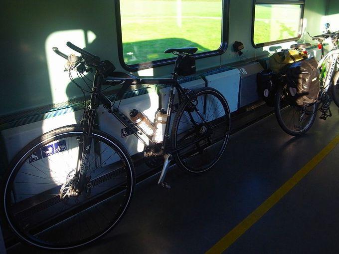 本格的なサイクリングをしたい人には、電車の活用がお勧め!