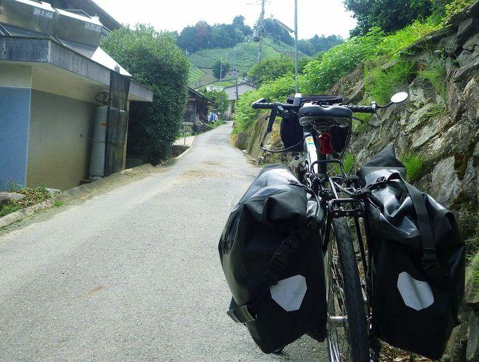 丘を登りきる達成感!茶源郷散策は、ぜひ自転車で!