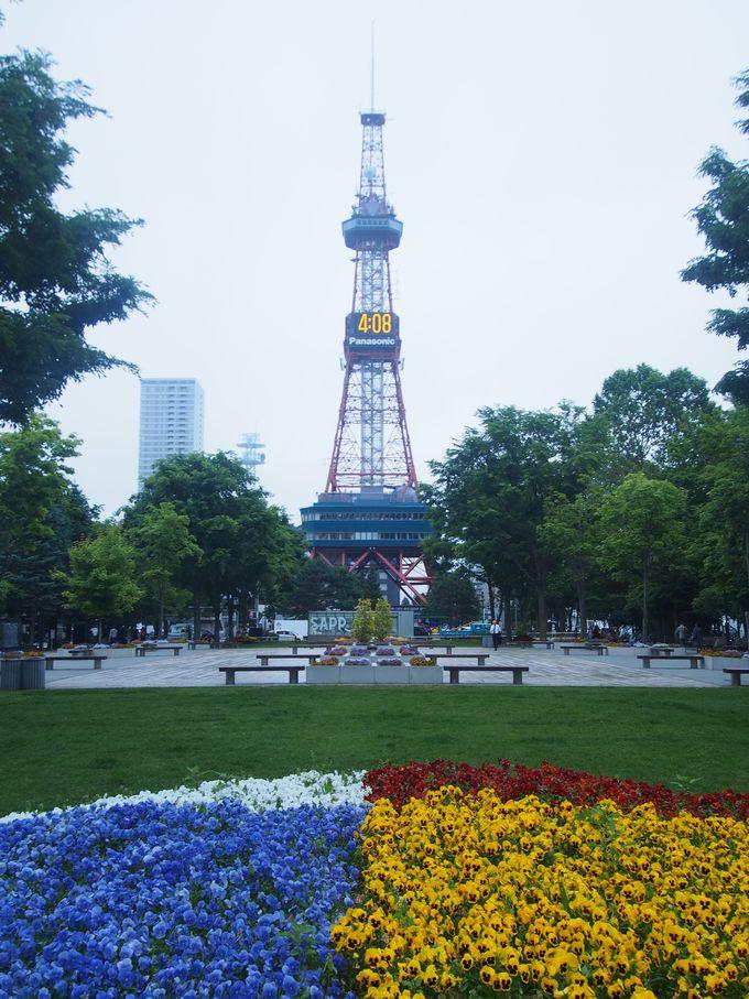 シンボルはさっぽろテレビ塔「大通公園」はイベント目白押し