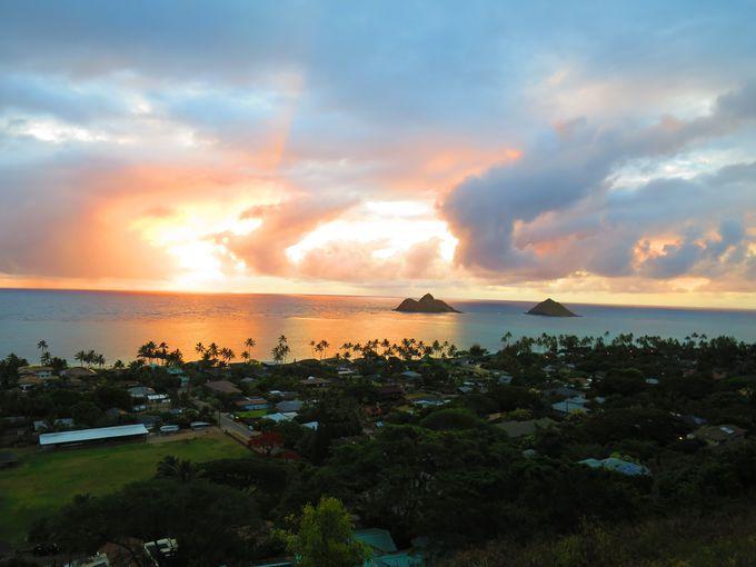 ベストタイムはサンライズが見える早朝!