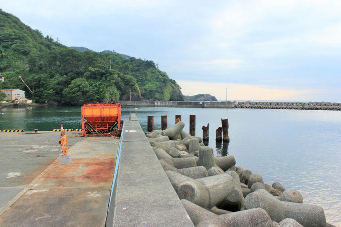 セカチューの名シーンが数多く撮られた松崎港の堤防