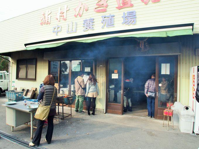 生牡蠣も焼き牡蠣も一個百円