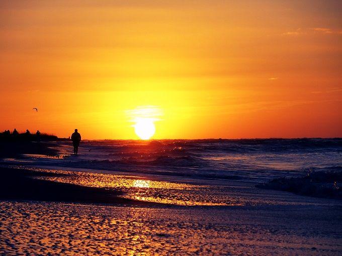 メキシコ湾の朝陽に感動!