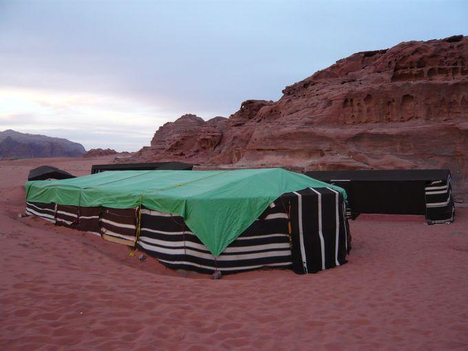 ベドウィンのテントでぜひ1泊しよう!