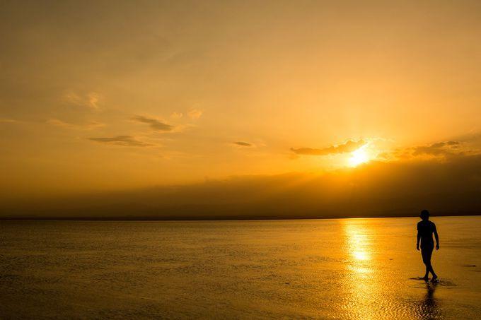 アフリカのウユニ塩湖?!
