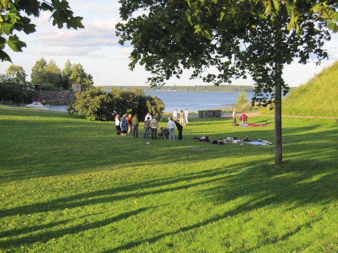 現在は素晴らしいお散歩、ピクニック島へ