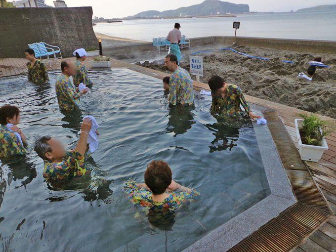 いわさきホテルの砂蒸しは露天風呂と展望風呂の料金も込み!
