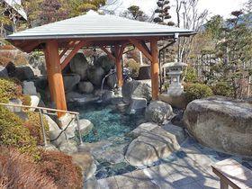 噴水みたいな自噴泉はPH9.95!山梨「はやぶさ温泉」のぬる湯でノンビリまったり