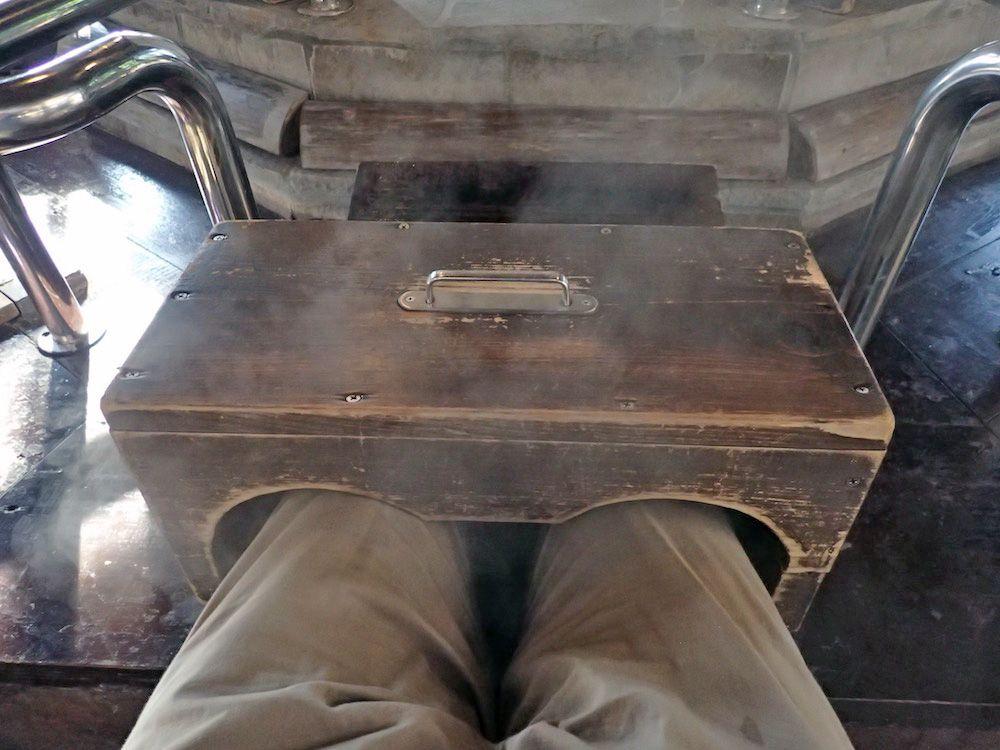 足湯の変形版・鉄輪名物「足蒸し」