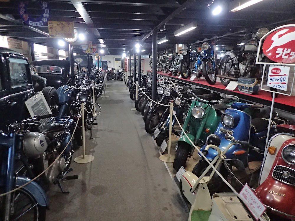 所有台数600台の中から現在国内外の名車200台を展示中!「世界のモーターサイクル歴史館」