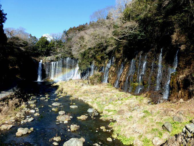 美しい虹の架かる滝!白糸の滝