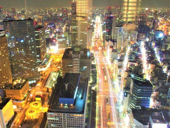 夜景を楽しむスポット「BREEZE BREEZE」「大阪ステーションシティ」「北新地のネオン」