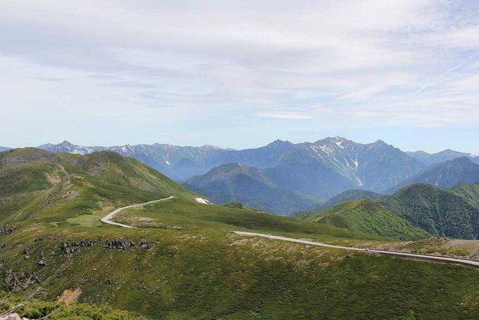 北アルプス連峰を臨むスカイライン
