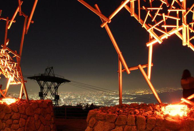 枝葉(フレーム)越しに臨む1000万ドルの夜景。絶好の人気観光スポット