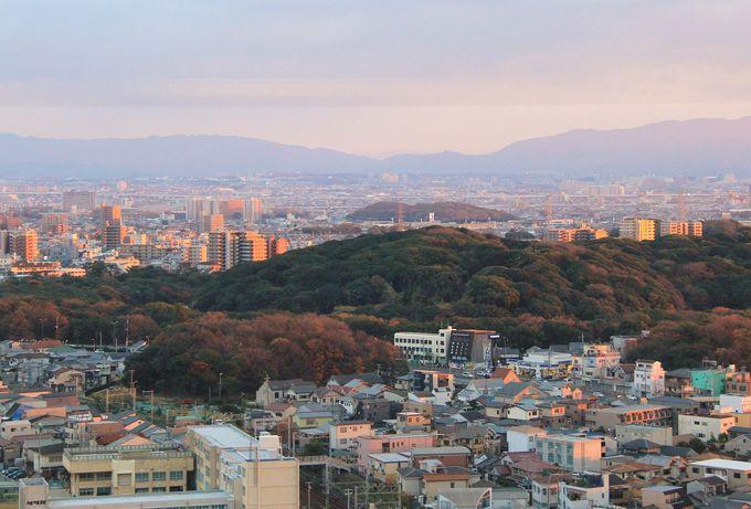 夕暮れの仁徳天皇陵 堺市役所21階展望ロビーは夜景も美しい穴場