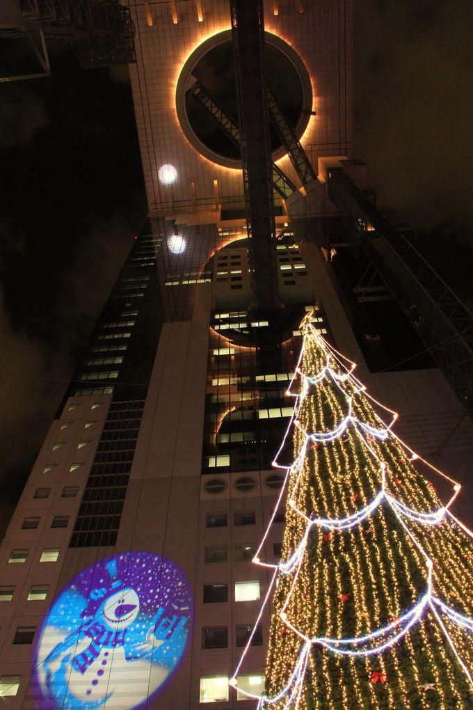 ��未来の凱旋門�≠ナ楽しむ世界最大級のクリスマスツリー【梅田スカイビル】