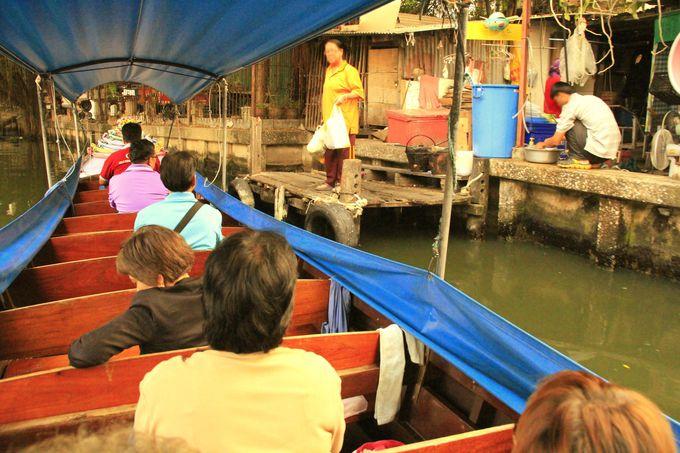 民家の前に接岸!超ディープなバンコクの舟旅