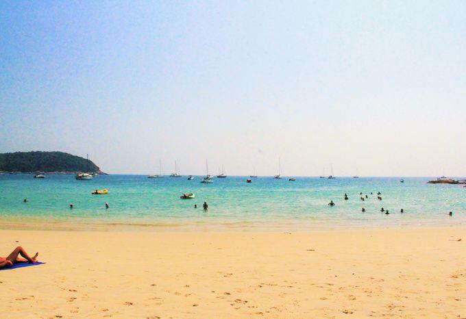 観光客も少なく、のんびりした秘境ビーチ