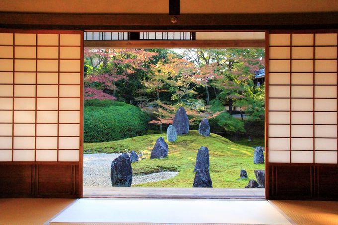 京都・東福寺の紅葉穴場スポット!庭園の紅葉と窓が美しい!「光明院」