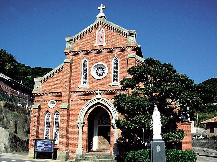レンガ造り教会の代表的作品、青砂ヶ浦天主堂