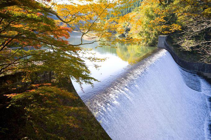 白水ダム右岸は、CMのロケ地としても有名