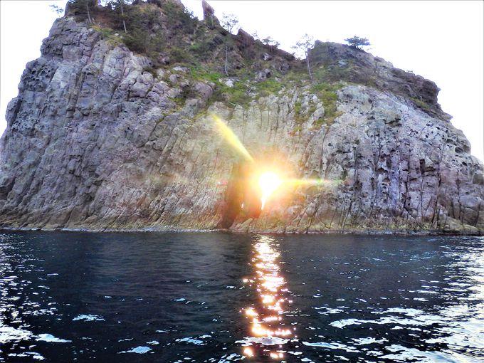隠岐の島一周ドライブの中間点は絶景のローソク島