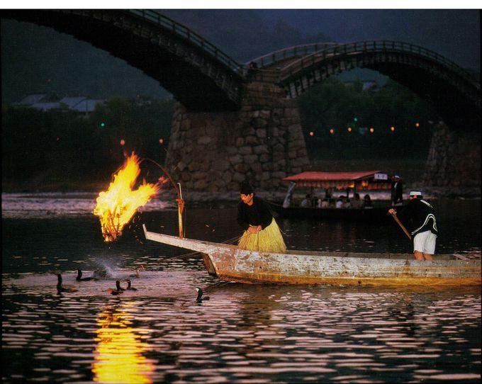錦帯橋の鵜飼は夏の風物詩