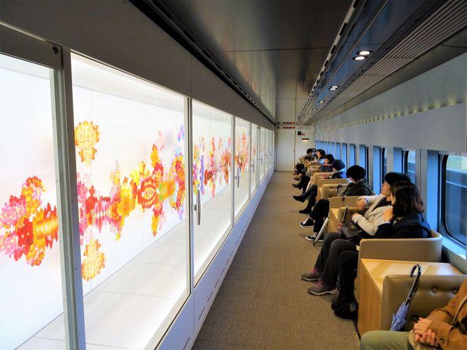 現美新幹線には、新潟にまつわるアートも