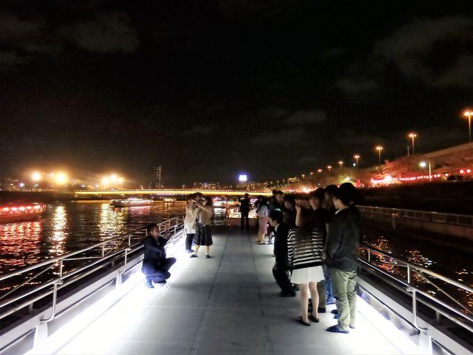 お花見屋形船だけの絶景!隅田川夜桜と東京スカイツリー