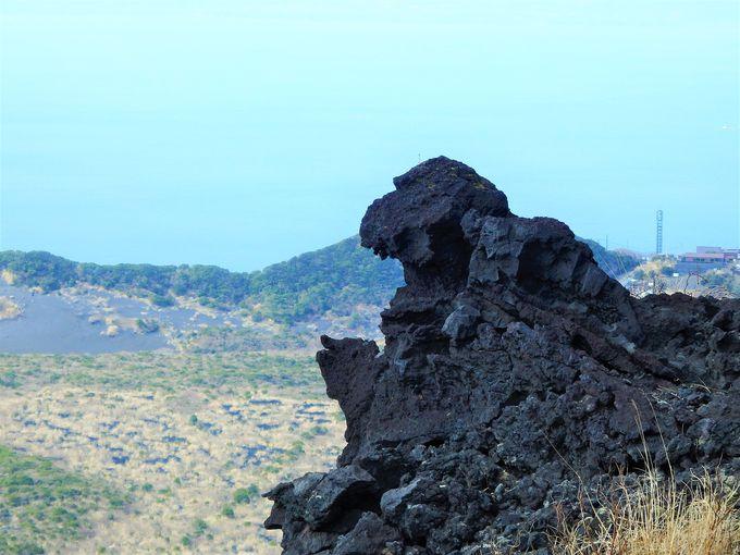 ゴジラ岩、巨大地層、異界への入口?東京「伊豆大島」