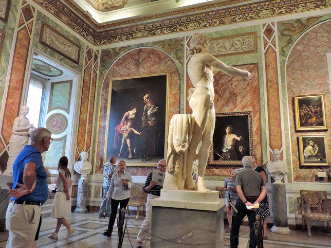 カラヴァッジョなどの有名な画家の作品がずらり!