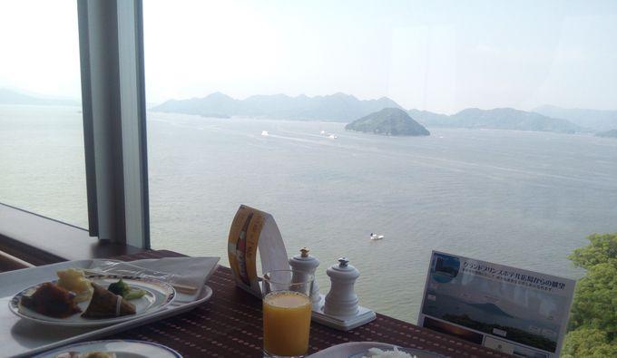 朝食ビュッフェレストランからの眺めは素晴らしいの一言!