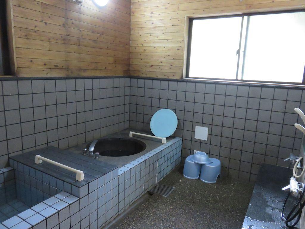 五右衛門風呂も楽しめる貸し切り温泉、ゆのこの湯