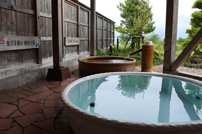 露天壺湯は酸性→アルカリ性の順で入浴して美肌効果アップ!