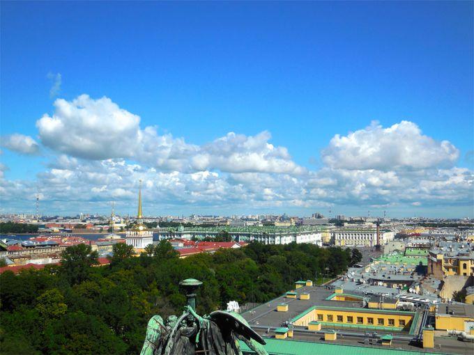 サンクトペテルブルグ市内を一望できるクーポラからの眺め