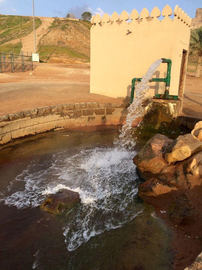 温泉が沸き出るUAEのパワースポット グリーン ムバザラ