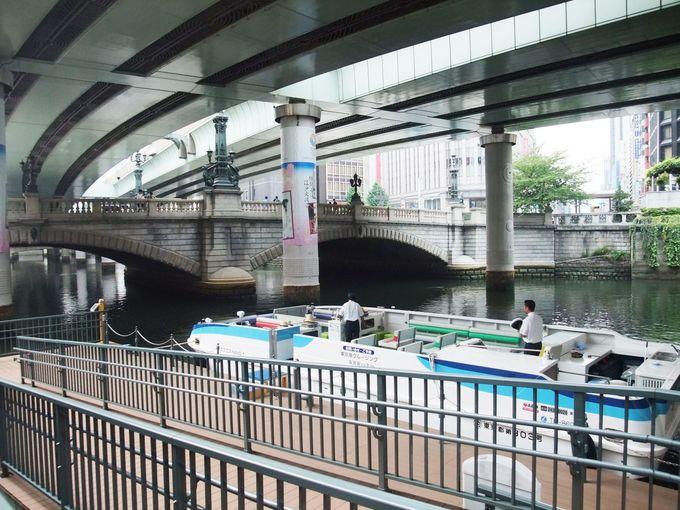 お江戸の中心地、日本橋をクルーズ!