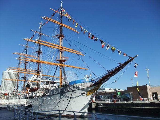 みなとみらいの「帆船日本丸」