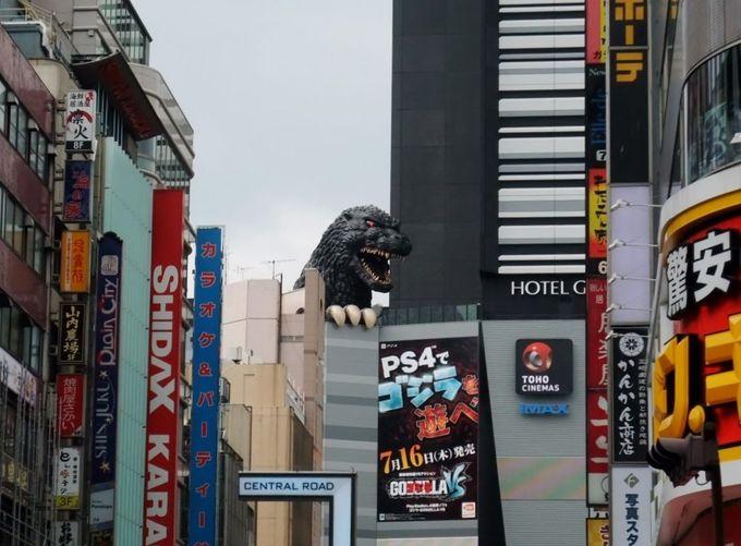 新宿東宝ビルの「ゴジラヘッド」
