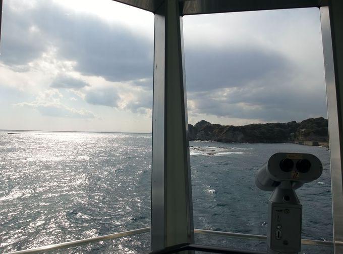 海中の次は、海上展望室へ!
